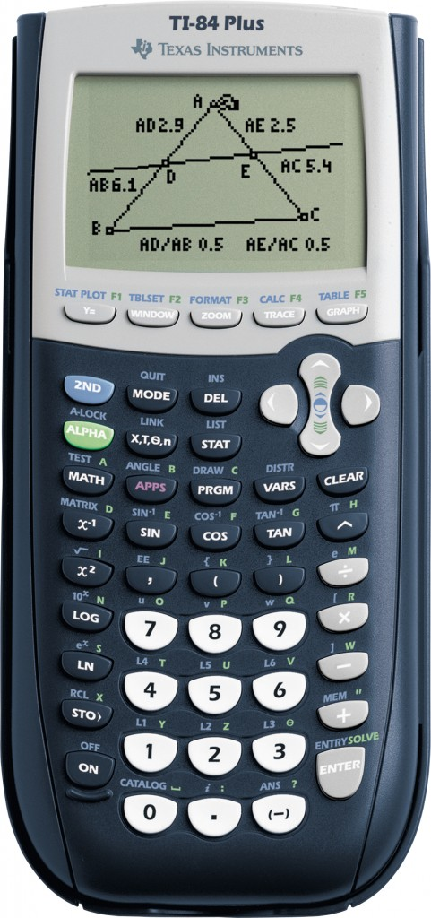 The TI-84 Plus graphing calculator - every seventh grader should have one!