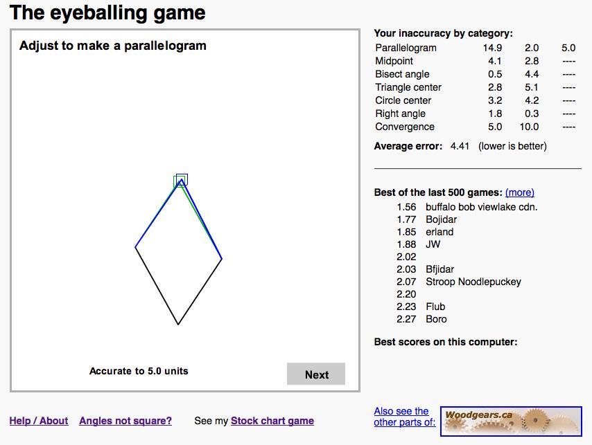Eyeballing Game