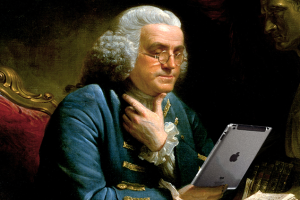 Benjamin Franklin and his ipad #3 750x400