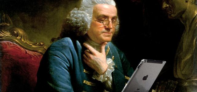 Benjamin Franklin and his ipad #3 750x400